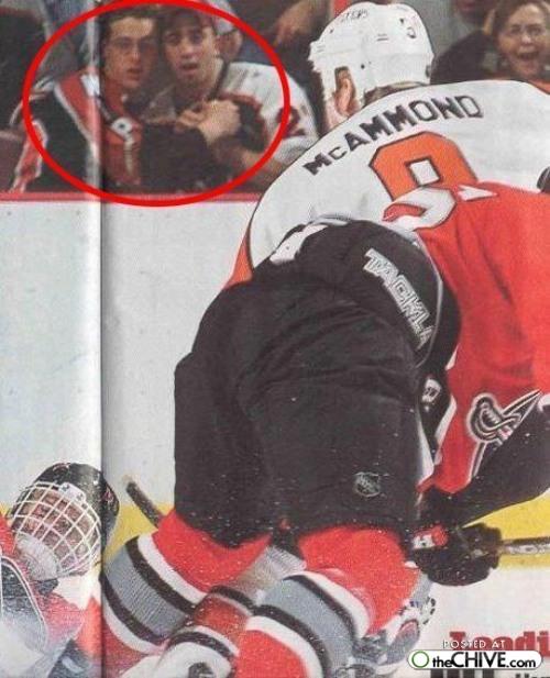 Hockey Photobomb