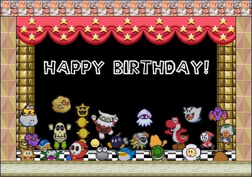 Bonne Fête Super Mario Bros.
